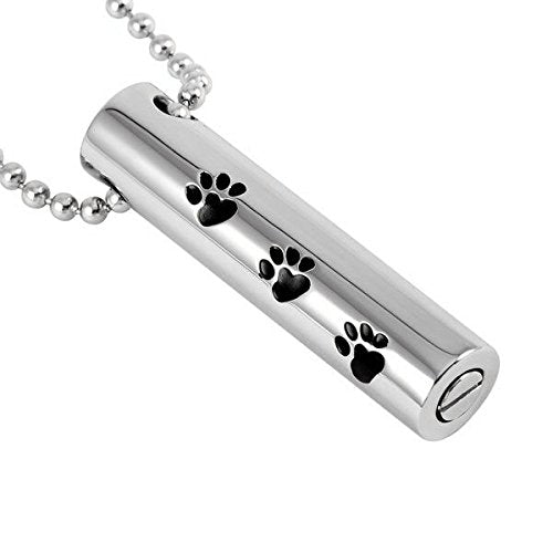 Tube & Paw Pet Memorial Urn Pendant