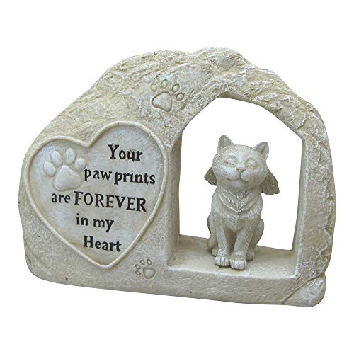 "7"" Height Polyresin Memorial Cat Angel Pet Statue"