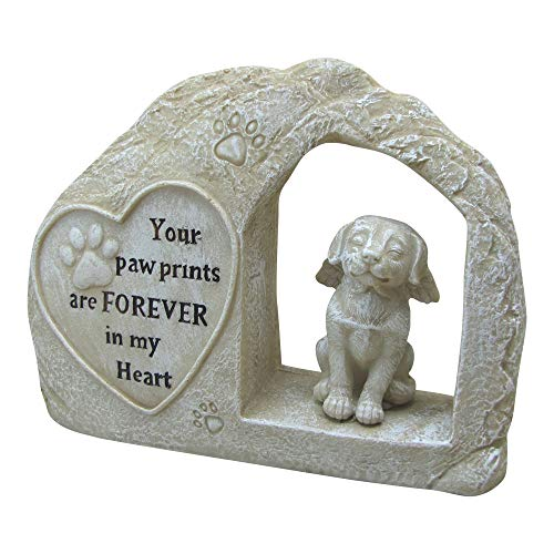 "7"" Height Polyresin Memorial Dog Angel Pet Statue"