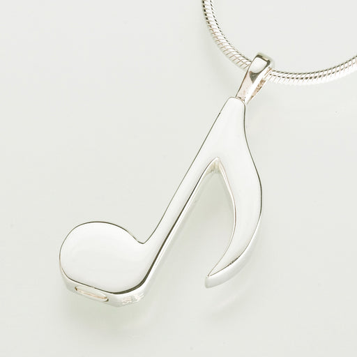 Musical Note Pendant Keepsake Urn