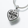 Small Filigree Heart Keepsake Urn Pendant