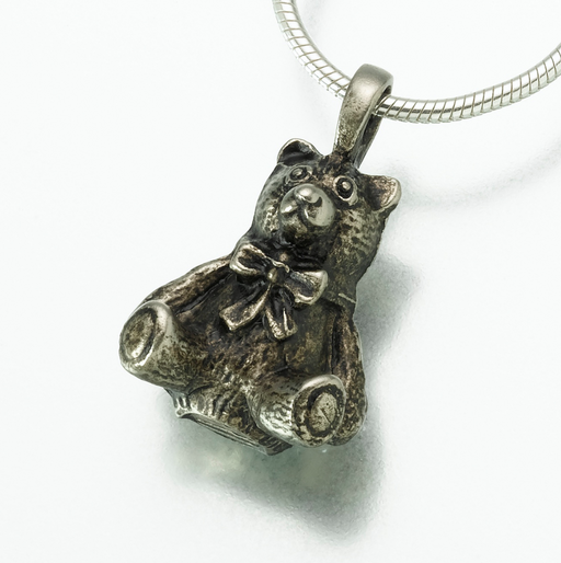 Bronze Teddy Bear Pendant Keepsake Urn