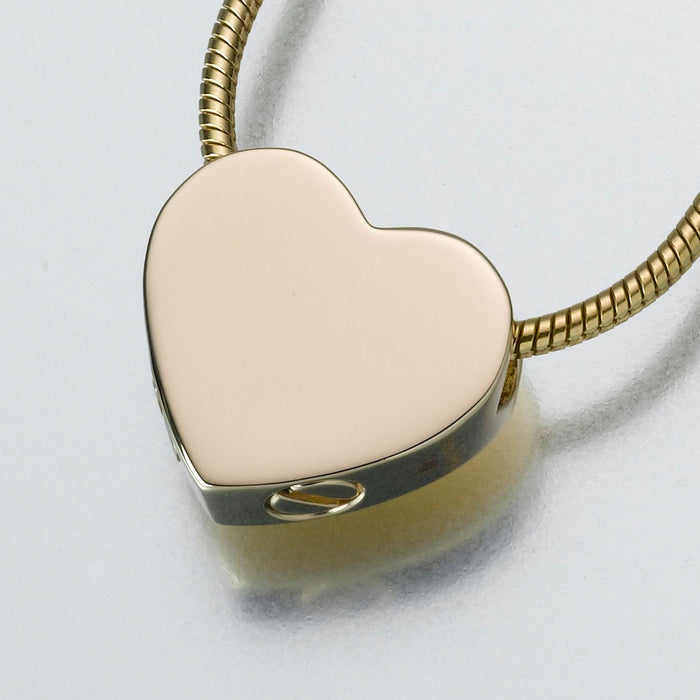 Double Chamber Heart Slide Pendant Keepsake Urn