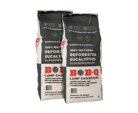 BOBQ Eucalyptus Charcoal– 2-Pack of 4kg. Bags