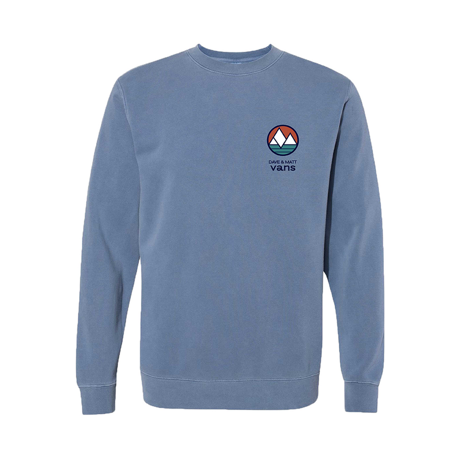 Embroidered Pigment-Dyed Crewneck Sweatshirt