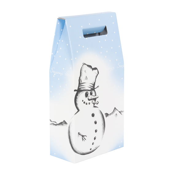 2 Bottle Box Snowman