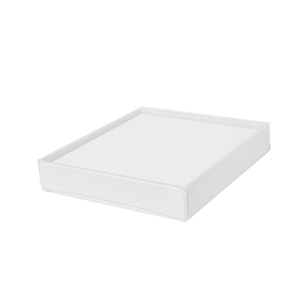 Bracelet Box White with Clear Lid