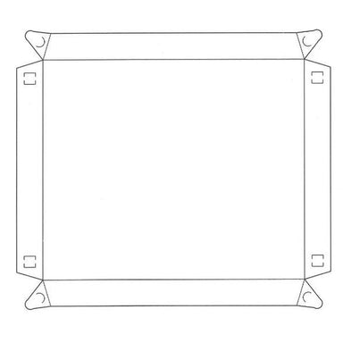 Deli Tray Lid Large - Clear (Pack of 25).
