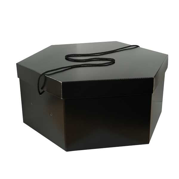 Medium Hat Box Black Black