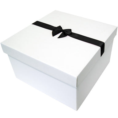 Black Pre tied Bow Size 7 to fit Large Hamper Balloon Box