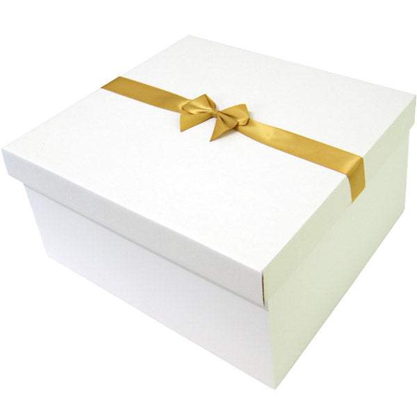 Gold Pre tied Bow Size 7 to fit Large Hamper Balloon Box