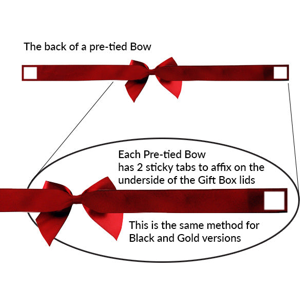 Pre-tied Bow - Size 3 (to fit Gift box E / Mini Hamper) (Pack of 25)