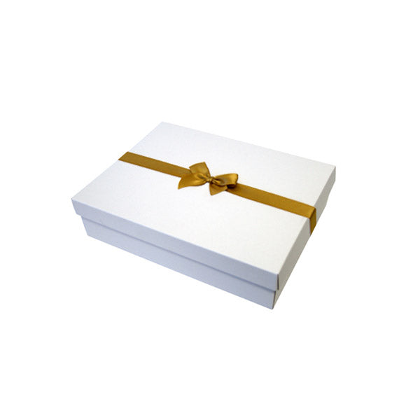 Gold Pre tied Bow Size 1 to fit Gift box C, A6, Voucher and Necklace Boxes