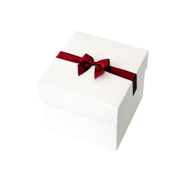 Crimson Pre tied Bow Size 3 to fit Gift box E Mini Hamper