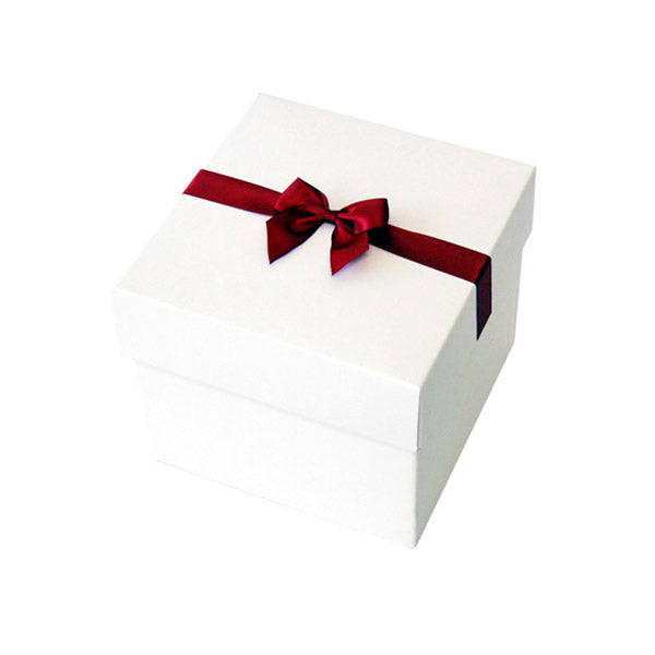Crimson Pre tied Bow Size 5 to fit Keepsake Small Hamper Boxes
