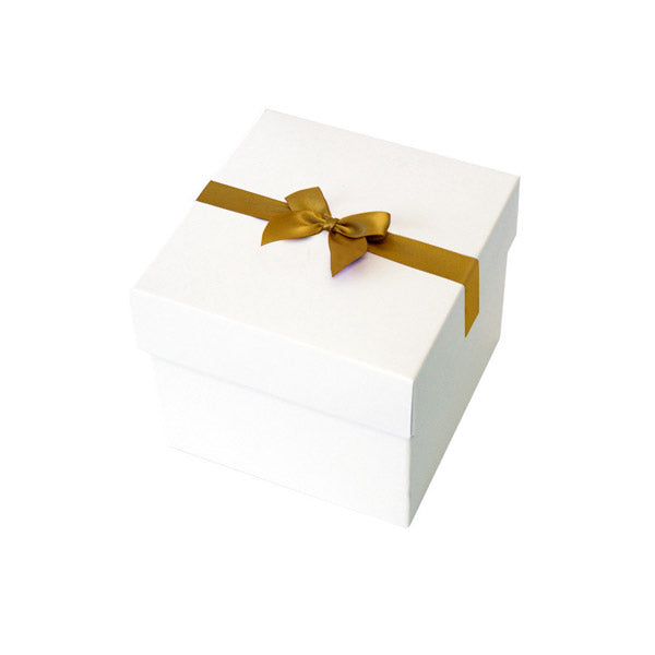 Gold Pre tied Bow Size 3 to fit Gift box E Mini Hamper
