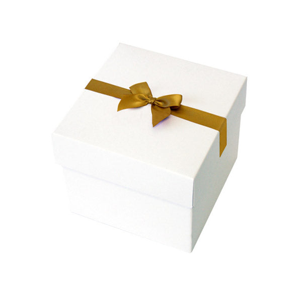 Gold Pre tied Bow Size 5 to fit Keepsake Small Hamper Boxes