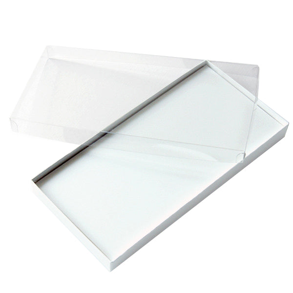 Voucher Box White with Clear Lid