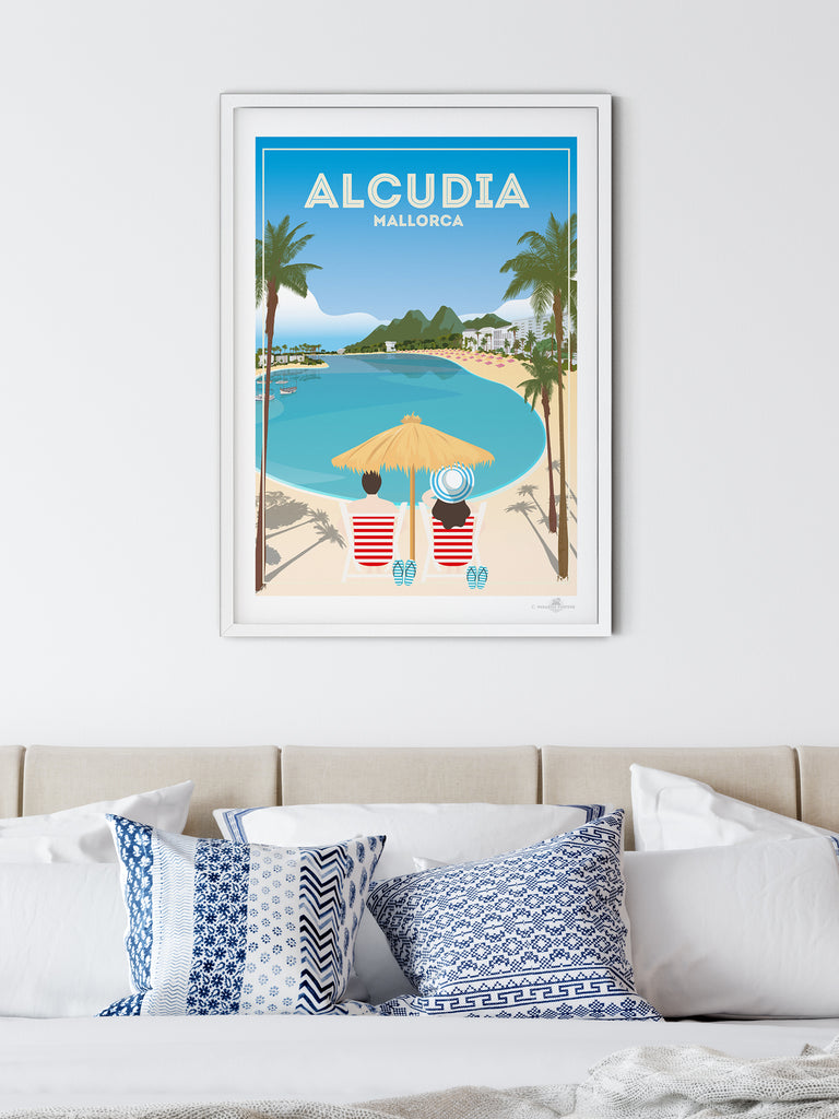 Alcudia Mallorca poster print - Paradise Posters