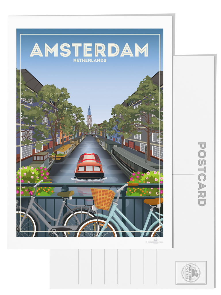 Amsterdam Netherlands postcard - Paradise Posters