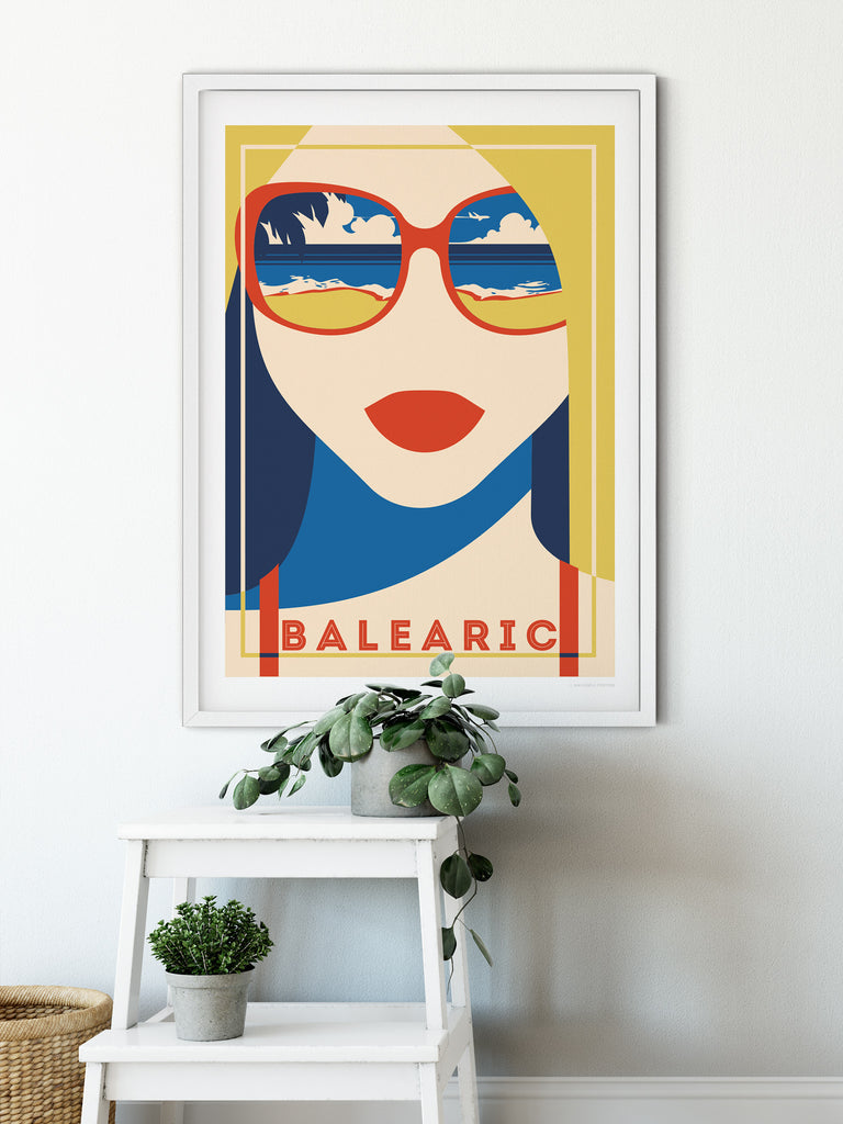 Balearic Retro poster print - Paradise Posters