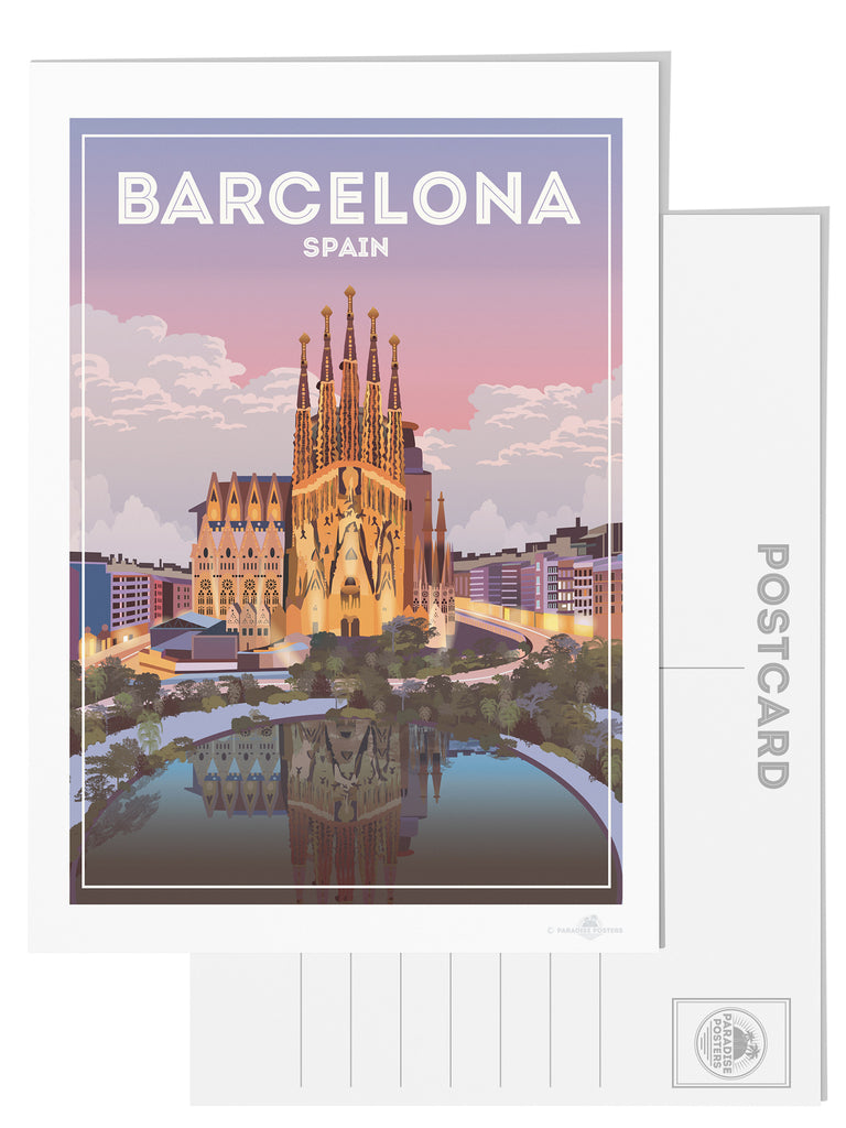 Barcelona Spain postcard - Paradise Posters