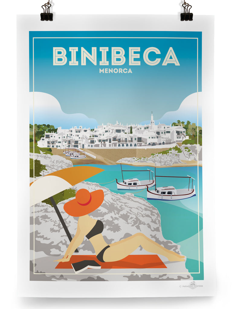 Binibequer Menorca poster print - Paradise Posters