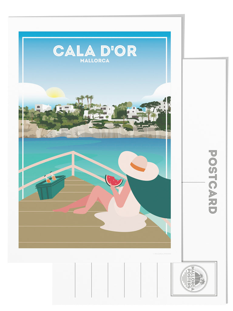 Cala d'Or Mallorca postcard - Paradise Posters
