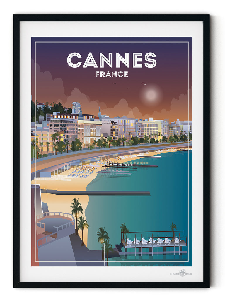 Cannes France poster print - Paradise Posters Vintage Retro Travel posters Mallorca Majorca