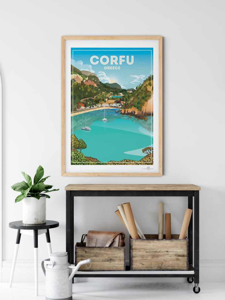 Corfu Greece poster print - Paradise Posters