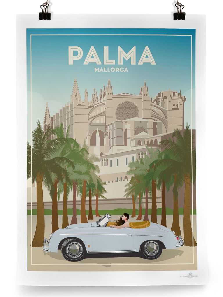 Palma de Mallorca Cathedral poster print - Paradise Posters