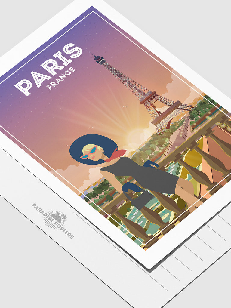 Paris France postcard - Paradise Posters