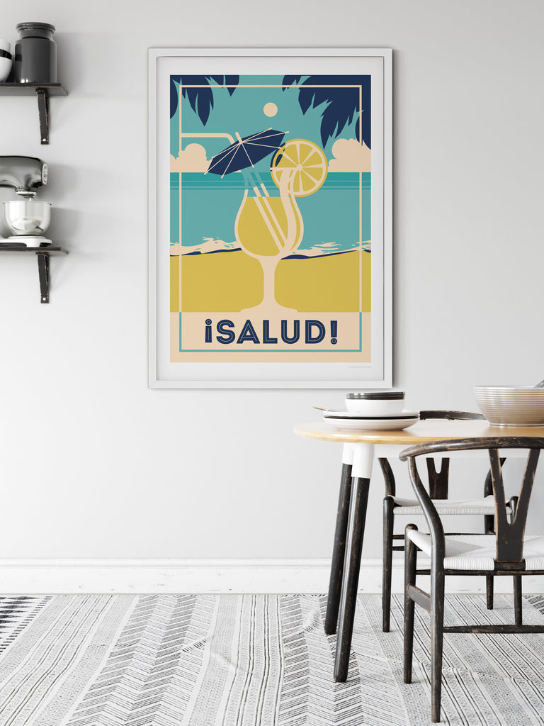 Salud Retro poster print - Paradise Posters