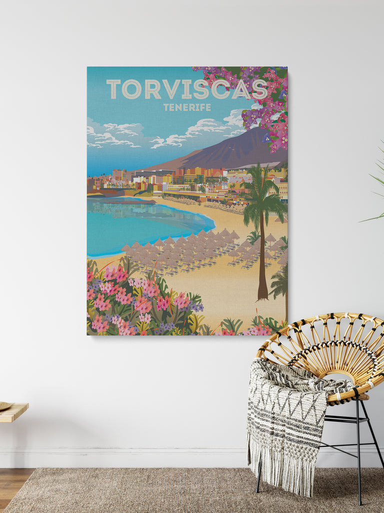 Torviscas Tenerife Canvas Print - Paradise Posters