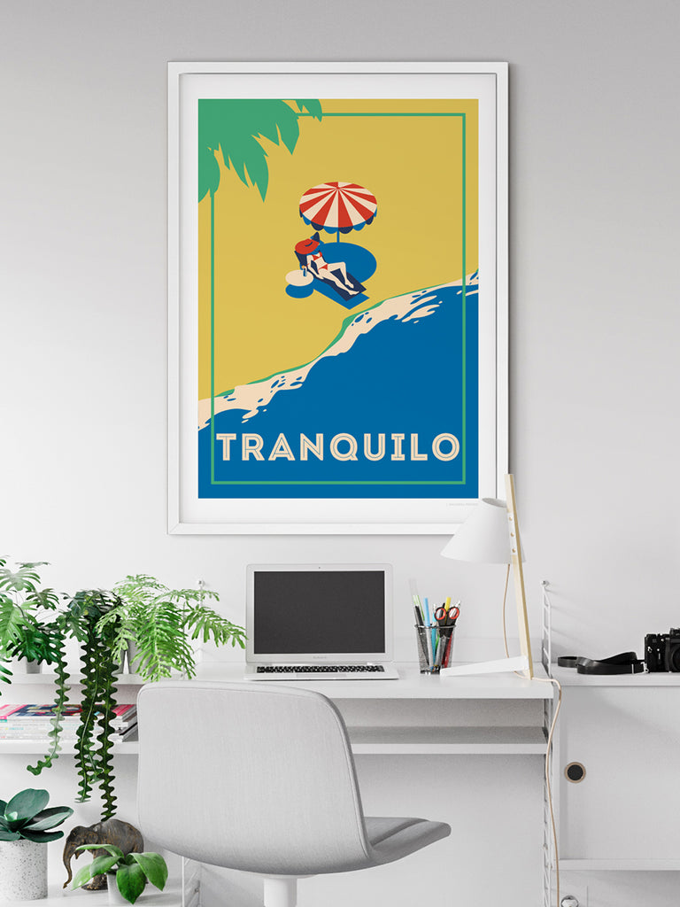 Tranquilo Retro poster print - Paradise Posters