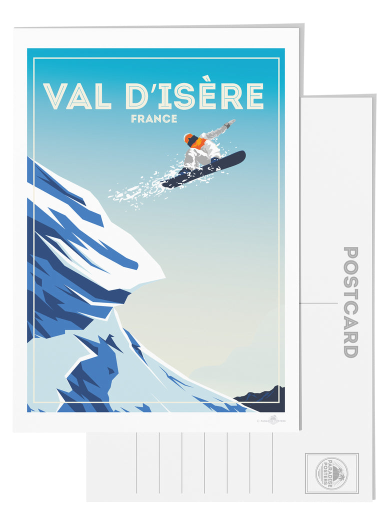 Val d'Isere France postcard - Paradise Posters