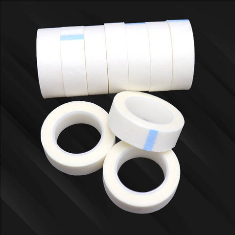 Peeycu Micropore Tapes Thin and Soft High Quality Eyelash Extension Under Pads Tapes Support OEM Lash Extension Tools 1 Pcs (Woven 4m))