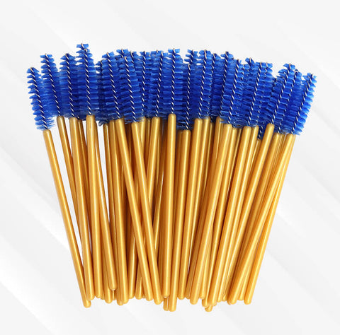 Peeycu 50 Sets Of Disposable Eyelash Brushes-(Blue)