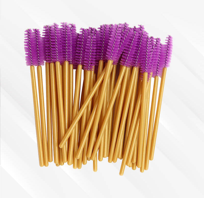 Peeycu 50 Sets Of Disposable Eyelash Brushes-(Purple)