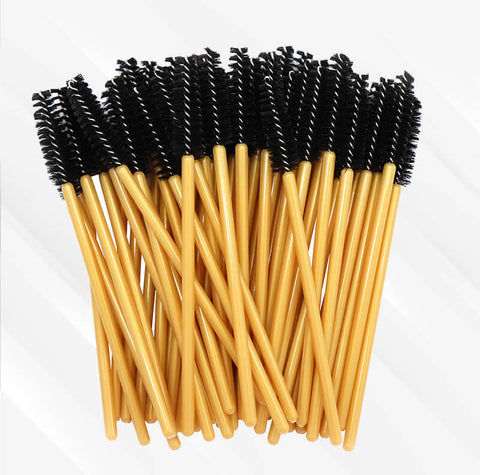 Peeycu 50 Sets Of Disposable Eyelash Brushes-(Black)
