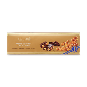 SWISS PREMIUM CHOCOLATE DARK HAZELNUT 300g