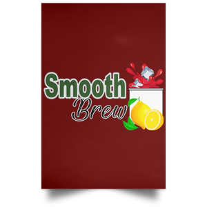 Smooth brew Satin Portrait Poster