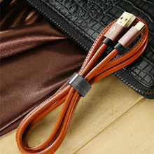 Load image into Gallery viewer, Premium Leather Braided Micro USB Fast Cable