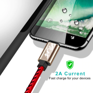 Premium Leather Braided Micro USB Fast Cable