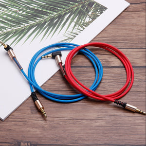 Premium Aux Audio Cable 3.5mm Jack Male to Male Cable with 90 Degree Angle