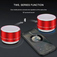 Load image into Gallery viewer, Mini Portable Wireless Metal Steel Bluetooth Speaker
