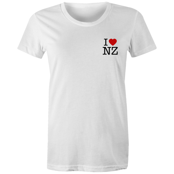 iHeartNZ Pocket - Women's Maple Tee