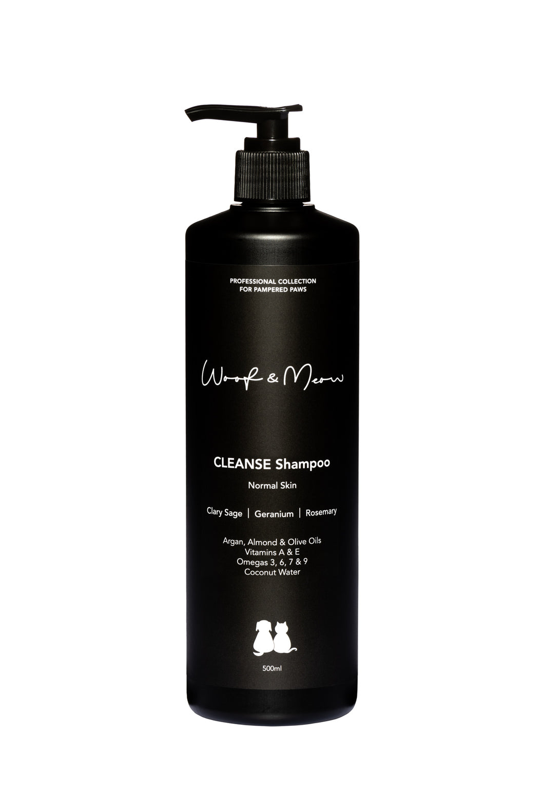 Cleanse Shampoo (Clary Sage, Geranium, Rosemary) - for NORMAL SKIN 500ML