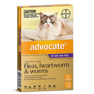 Advocate For Cats Over 4Kg Purple 3 Pack