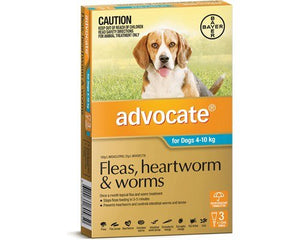 Advocate For Dogs 4-10Kg Aqua 3 Pack